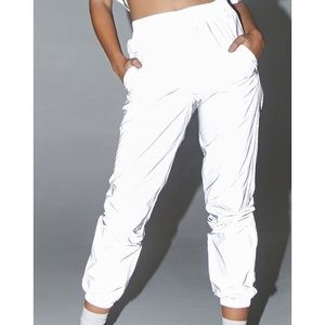 NWT Forever 21 Reflective Joggers Pants Size S